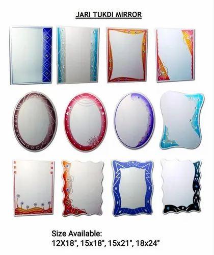 Tukdi Fancy Mirror Thickness 5 Mm Rs 510 Piece Nayan Corporation Id 20360516988