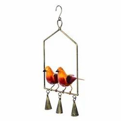 Chirmping Birds With Bell Wall Hanging