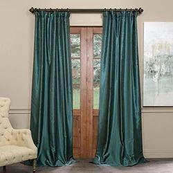 Plain Silk Curtains