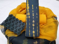 Cotton Formal Shibori Salwar Suits