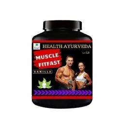 Vanilla Flavor Muscle Fit Fast Weight Gainer Powder