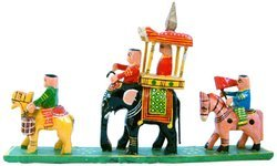 Wooden Handicraft Royal Maharaja Procession