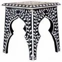 Regal Artistry Bone Inlay Bedside Table