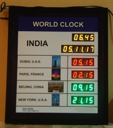 World Clock Digital