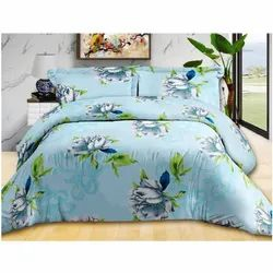 Fancy Flower Printed Double Bed Sheet