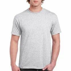 Mens Grey Cotton T-Shirt