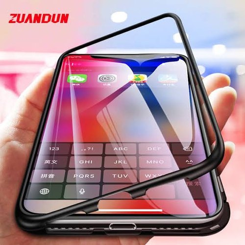 new styles 517ef a16d7 Oneplus 6 Magnetic Toughened Glass Case
