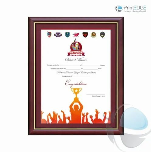 24 Hours Paper Corporate Certificate Printing, in Pan India, Dimension / Size: A4