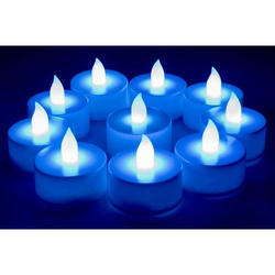 Multi Color LED Diya (10 Candles )