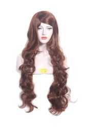 40 Inch Long & Wave Curly Cooper Brown Hair