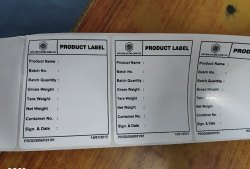 Product pri print Labels