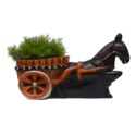 Horse Cart FRP Plant Pot