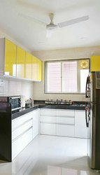 Acrylic L Shape Kitchen
