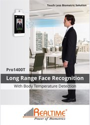 Realtime Pro 1400T Face Attendance With Body Temperature Machine