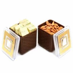 Imagica Set of 2 Almonds, Chocolates Air Tight Containers