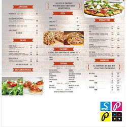Menu Designing And Printing Service