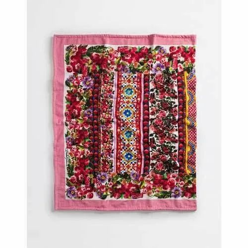 Multicolor Cotton Beach Towel, Rectangular, 550-650 GSM