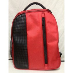 Red-Black Polyester College Bag