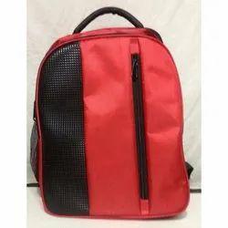 Red-Black Polyester College Bag