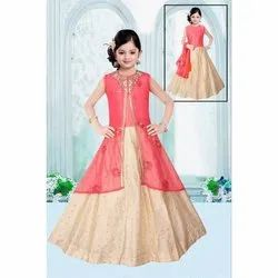 Kids Designer Anarkali Kurti with Jacket Indo Westren Dress, Age: 1-18 Year