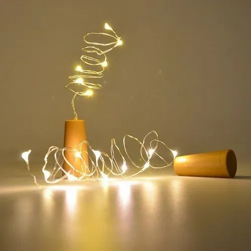 20 LED Wine Bottle Cork Lights Copper Wire String Lights, 2 m/7.2FT Battery Operated Fairy Lights