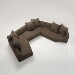 U Shaped Sofa With Cushions