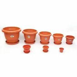 Vipin Plastic Ware Round Plastic Pots, for Home