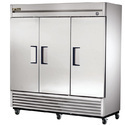 Silver Stainless Steel Three Door Commercial Refrigerator, 500 L
