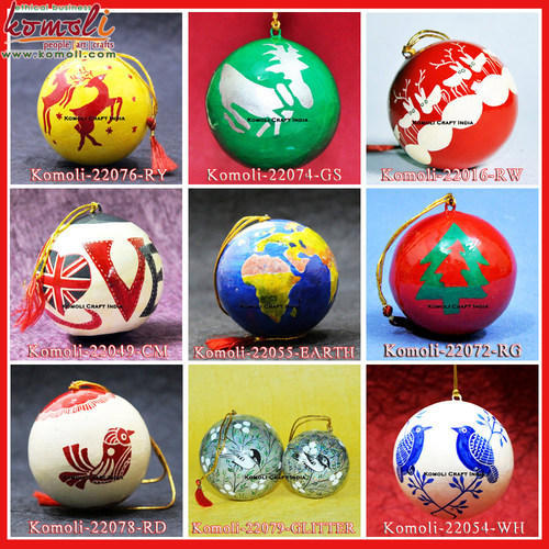 Animal Shaped Komoli Christmas Balls Bauble Hand Painted Decoration Ornaments