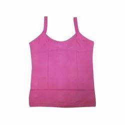 Plain Strap Neck Ladies Pink Slip
