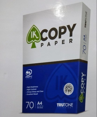 White Ik Copy Paper, Packing Size: 500 Sheets Per Pack