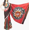 Riaa Traditional Indian Ethnic Pure Silk Hand Batik (wax) Saree