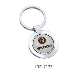 Silver Color Custom Corporate Key Rings