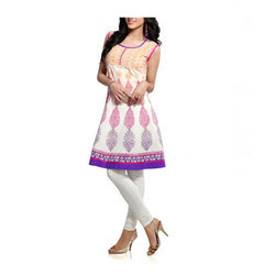 Cotton Ladies Designer Kurti, Sleeveless