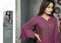 Shelby Fancy Designer Rayon With Hand Work Long Kurtis