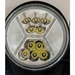 Aluminium White 11 LED Bike Round Light