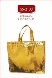 Golden Gift Bag . Metallic Gift Bag