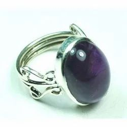 African Amethyst 925 Sterling Silver High Fashion Rings