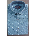 Mens Party Wear Small Print Shirt