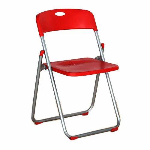 Red Plastic Folding Chair, Rs 1200 /piece Ashoka Enterprises | ID:  20458650397