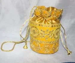 Yellow Potli Gift Bag