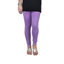 Light Lavender Cotton Lycra V-Cut Churidar Leggings
