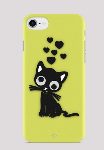 617d85e24b Lemon Yellow Cat Mobile Cover, Rs 500 /piece, Thought Box | ID ...
