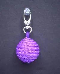 Purple Pom Pom Keyring
