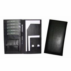 Black Leather Travel Wallet