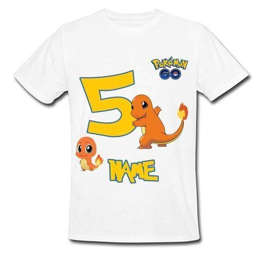 cd5a265a White Women Sprinklecart Charmander Pokemon's Lovely Birthday Tee ...
