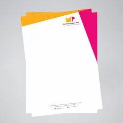 Multicolor Rectangle Letterheads, For Branding