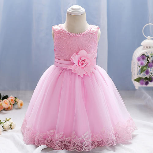 63460073ac1298 Pink Floral Applique Party Dress at Rs 932  piece
