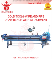 Gold Tool Jewelry Wire And Pipe Draw Bench With Attachment