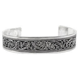 Oxidized 925 Sterling Silver Bangle